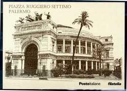 """PALERMO - Piazza Ruggiero Settimo - """"Piazze D'Italia"""" - Cartolina Poste Italiane, Come Da Scansione. - Palermo"""