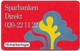 Sweden - Telia - Sparbanken Direkt 2 - 15U, 01.1995, 31.000ex, Used - Sweden