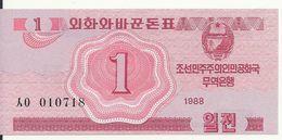 COREE DU NORD 1 CHON 1988 UNC P 31 - Corée Du Nord