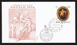 SAN MARINO   SCOTT # 852 ON FIRST DAY COVER (FDC)  (12/12/74) (OS-455) - FDC