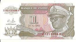 ZAIRE 1 NOUVEAU LIKUTA 1993 UNC P 47 - Zaire