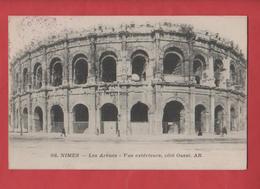 CP NIMES 30 Cachet Militaire Commission Militaire De Gare - Guerre 1914-18