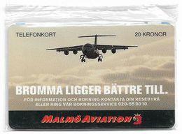 Sweden - Tele2 - Malmö Aviation, Exp. 12.1996, 20Kr, 8.500ex, Remote Mem. NSB - Sweden