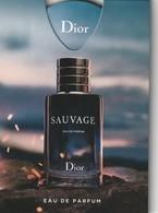 Nouveau PUFFER **Sauvage **Eau De Parfum - Cartes Parfumées