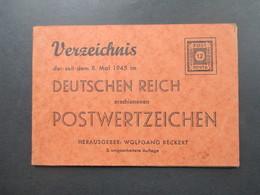 SBZ 1946 Briefmarkenkatalog Wolfgang Beckert Verzeichnis Der Seit Mai 1945 Erschienen Postwertzeichen! - Deutschland