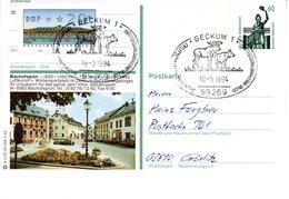 """BRD Bildpostkarte 60 Pf. WSt. Sehenswürdigkeiten Bavaria München P139 W 2/32 ZF """"Bischofsgrün"""" SST 18.3.94 BECKUM 1 - [7] République Fédérale"""
