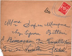 Paris 1955 - Lettre Taxée Pour Usage De Timbre FM Sans Marque De Franchise De Régiment Ou De Base - Poststempel (Briefe)