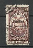 ECUADOR 1915 Revenue Tax Stamp Timbre Fiscal Timbre De Sanidad O - Ecuador