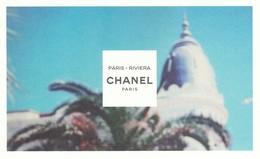CHANEL **Les EAUX De Chanel *** Paris-Riviera*** Carte Postale - Cartes Parfumées