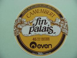 Etiquette Camembert - Fin Palais - Fromagerie UCA LORCO Bellerive à Pont-Scorff 56 Bretagne - Morbihan   A Voir ! - Fromage