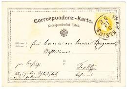 1871 Ganzsachenkarte Aus Prag Böhmen; Leichte Gebrauchsspuren - Ganzsachen
