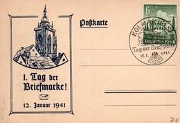 Kolmar Colmar 1941 - Journée Du Timbre - Tag Der Briefmarke - Alsace Elsass - Poststempel (Briefe)