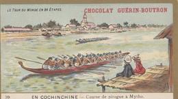 CHROMO IMAGE ) GUERIN BOUTRON Le Tour Du Monde En 84 Etapes ( Cochinchine Course De Pirogue A Mytho) (6x10.5) - Guérin-Boutron
