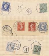 Empire ND 25c N° 15 - ESSAIS - Sur 3 Fragments De Lettre - 1853-1860 Napoleon III