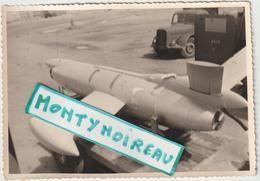 Vieux  Papier : Photo ( Env . 12,5 Par 9 Cm ) : AVION - C T 20  , Fusée  Avion  Cible - Vieux Papiers