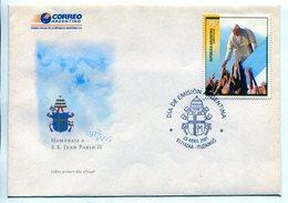 HOMENAJE A S.S. JUAN PABLO II, PAPA POPE PAPE. ARGENTINA 2005 SOBRE PRIMER DIA, ENVELOPE FDC -LILHU - Popes