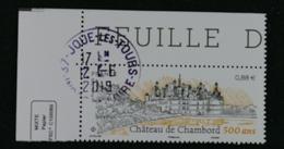France  2019 Chateau De Chambord 500 Ans Oblitéré - Frankreich
