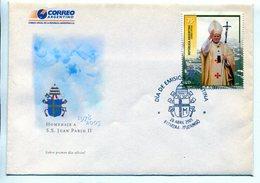 HOMENAJE A S.S. JUAN PABLO II, PAPA POPE PAPE. ARGENTINA 2005 SOBRE PRIMER DIA, ENVELOPE FDC -LILHU - Papi