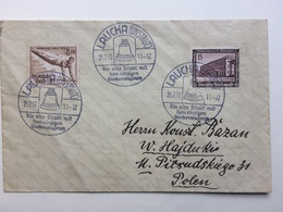 GERMANY - 1937 Cover With Laucha An Der Unstrut Sonderstempels Sent To Poland - Alemania