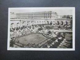 Echtfoto AK Versailles Verwendet Im Saarland 1953 Nr. 279 MeF Stempel Saarmesse Internationale Mustermesse - 1947-56 Allierte Besetzung