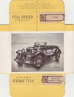 FULL SPEED VIRGINIA Nr 61, BIANCHI 1930 ITALIE - Cigarette Cards