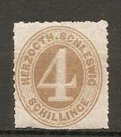 SCHLE - Yv. N° 24 Mi N°17   *  4 S Bistre  Sclleswig Cote  40 Euro  BE    2 Scans - Schleswig-Holstein