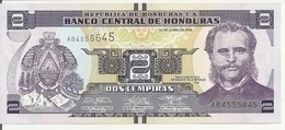 HONDURAS  2 LEMPIRAS 2014 UNC P 97 - Honduras