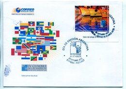 IV CUMBRE DE LAS AMERICAS, MAR DEL PLATA. ARGENTINA 2005 SOBRE PRIMER DIA, ENVELOPE FDC -LILHU - Otros