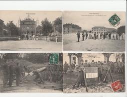 4 CPA:TOUL GARNISON 6e RÉGIMENT ARTILLERIE FORTERESSE MORTIER RAYÉ,DRAPEAU DU 160e DE LIGNE,20me BATAILLON DU GÉNIE..... - Toul