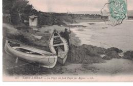 La Plage - Au Fond Puget Sur Aigens- ** Belle Cpa Animée De 1907 ** Ed LL  N° 110 - Saint-Aygulf