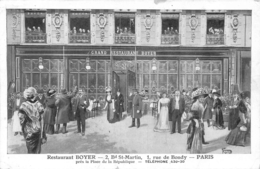 PARIS  RESTAURANT BOYER 2 BD SAINT MARTIN ET 1 RUE DE BONDY - Cafés, Hôtels, Restaurants