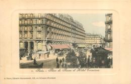 PARIS PLACE DE ROME ET HOTEL TERMINUS  EDITION PERRET - Arrondissement: 08