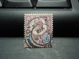 TIMBRE POSTAGE REVENUE 5 D Royaume-Uni, Oblitéré 1905 ? - Sonstige - Europa