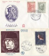 1967,1969 Monaco, 2 FDC: 450 Years From The Date Of Death Of Leonardo Da Vinci And His Student Ambrogio De Predis - Monaco