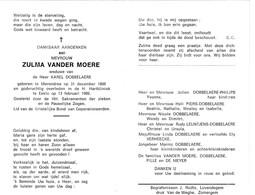 Z.VANDER MOERE °MERENDREE 1898 +EEKLO 1989 (K.DOBBELAERE) - Devotion Images