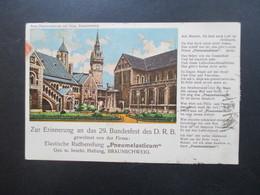 DR Infla 1923 MiF Werbepostkarte 29. Bundesfest Des D.R.B. Firma Pneumelasticum Werbesong! Durch Eilboten Bote Bezahlt - Werbepostkarten