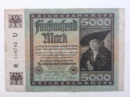 GERMANY - 5000 Mark 1922 - [ 3] 1918-1933 : Weimar Republic