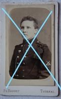 Photo CDV ABL ARTILLERIE Artilleur Photographe Ph HANNET Tournai Circa 1900 Militaria Leger - Krieg, Militär
