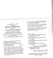 M.VEREECKE °URSEL 1908 +ZOMERGEM 1991 (R.VAN DE KERCKHOVE-G.DOBBELAERE) - Devotion Images