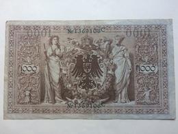 GERMANY - 1000 Mark 1910 Green Serial Number - [ 2] 1871-1918 : German Empire