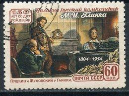 Y85 USSR 1954 1690 (ё1782) 150 YEARS SINCE THE BIRTH OF COMPOSER MIKHAIL GLINKA. Music. A.S. Pushkin - Scrittori