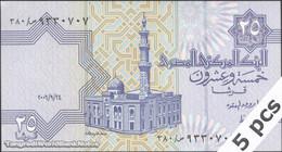 TWN - EGYPT 57f4 - 25 Piastres 24.9.2006 DEALERS LOT X 5 UNC - Egitto