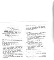 G.DOBBELS °HOOGLEDE 1912 +ROESELARE 1991 (S.BUYSE) - Devotion Images