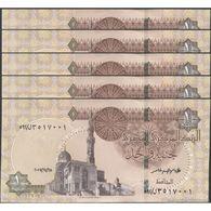 TWN -  EGYPT 70a2 - 1 Pound 28.11.2017 DEALERS LOT X 5 UNC - Egipto