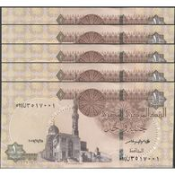 TWN -  EGYPT 70a2 - 1 Pound 28.11.2017 DEALERS LOT X 5 UNC - Egitto
