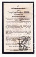 DP Theophiel H. Prum ° Watou Poperinge 1840 † 1915 X Sophie Caulier - Images Religieuses