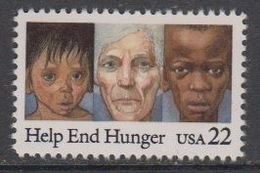 USA 1985 Help End Hunger 1v ** Mnh (43118G) - Verenigde Staten