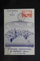 MAROC - Carte De La Foire Exposition De Mazagan En 1949 - Carte Maximum  - L 32126 - Maroc (1891-1956)