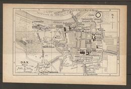 CARTE PLAN 1928 - DAX LES BAIGNOTS PARC Et CASINO Le TUC D'EAUZE BAINS LAUQUET REMPARTS ROMAINS - Cartes Topographiques
