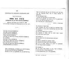 I.DE ROO °PITTEM 1888 +ROESELARE 1971 (R.DOBBELS) - Devotion Images